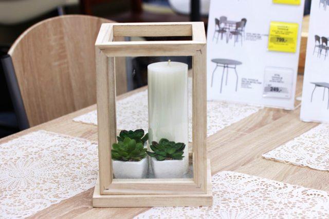 pudełko dekoracyjne TORMOD, świeca KJETIL, sztuczne rośliny HAAKON