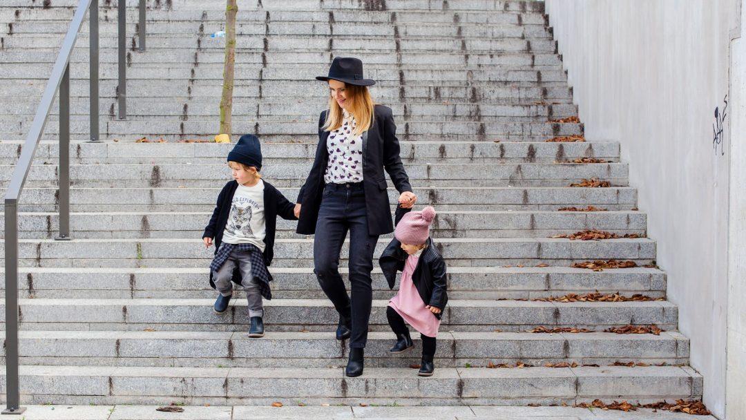 jesienna stylizacja dla mamy i dzieci