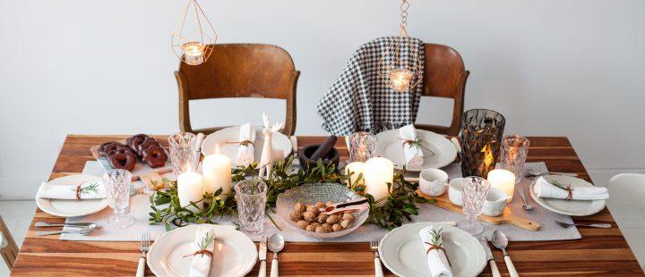 dekoracja świątecznego stołu gwiazdka 2016