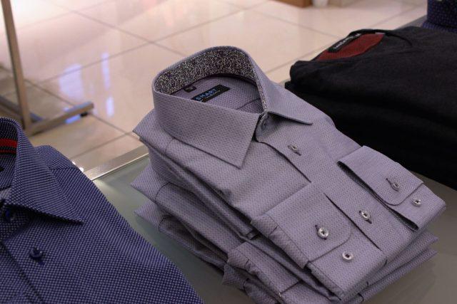 Bawełniana koszula w mikrowzór Lanĉerto FREYA (299,90 zł)