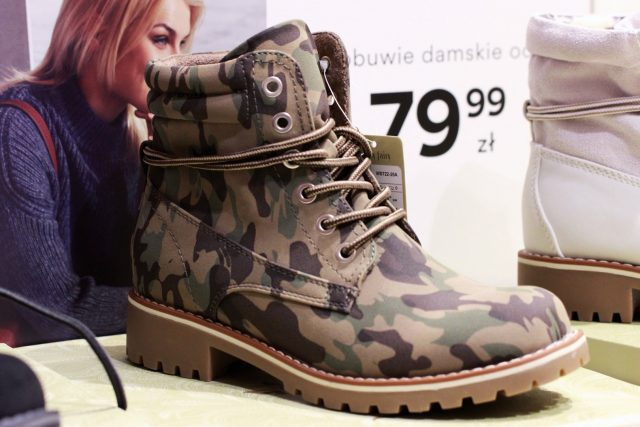 wojskowe buty na jesień damskie ccc