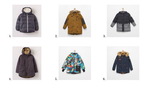 zimowe kurtki dla chłopca
