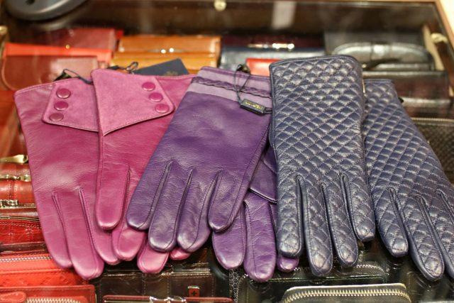 rękawiczki damskie skórzane kolorowe