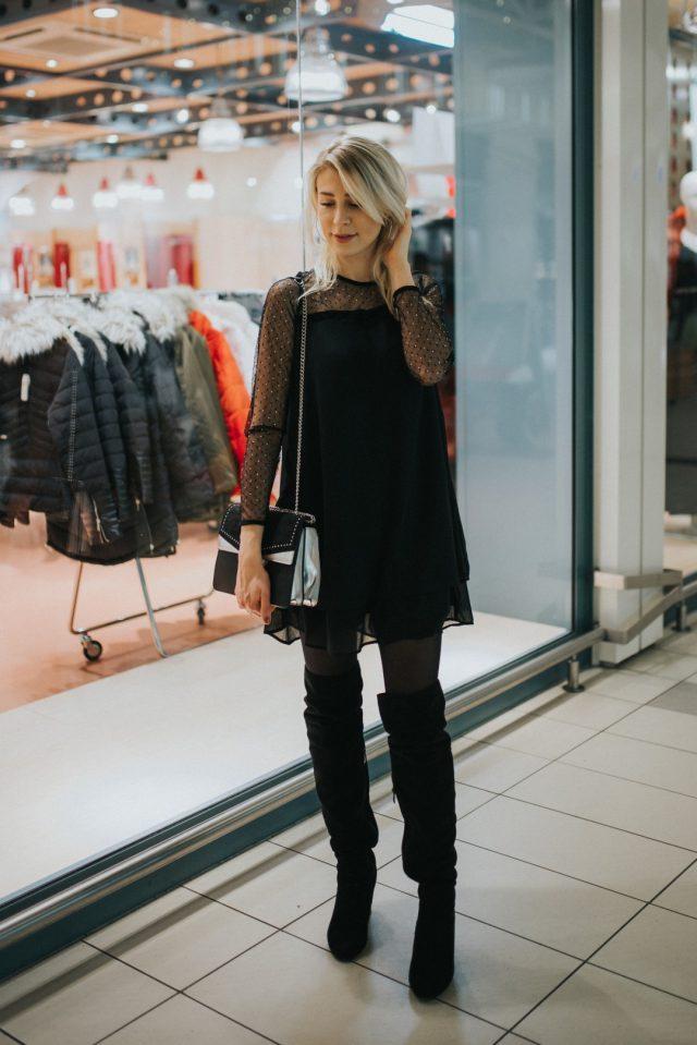 mała czarna sukienka na sylwestra