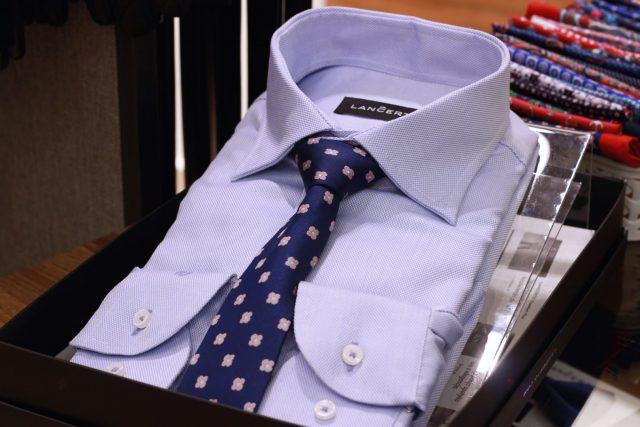 Koszula męska i krawat dzianinowy Lanĉerto (koszula od 149,90 zł, krawat 139,90 zł)