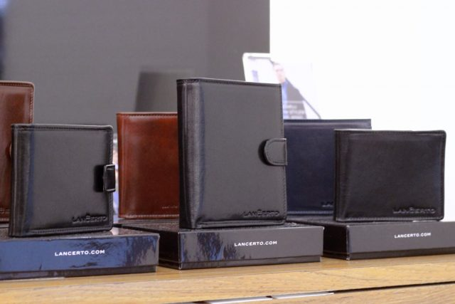 Męskie portfele skórzane Lanĉerto (ceny 149,90 do 299,90 zł)