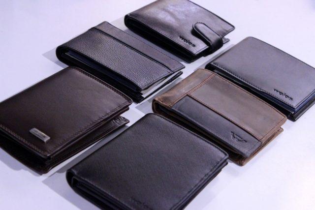 Męskie portfele skórzane Wojas (ceny od 129 do 149 zł)