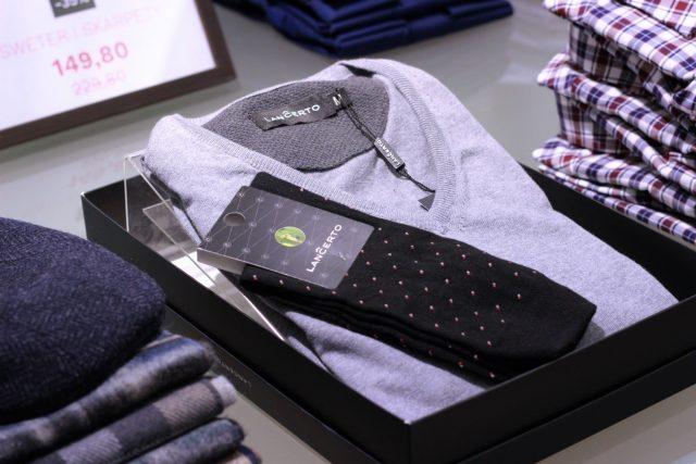 Zestaw męski sweter plus skarpety męskie Lanĉerto (149,80 zł)