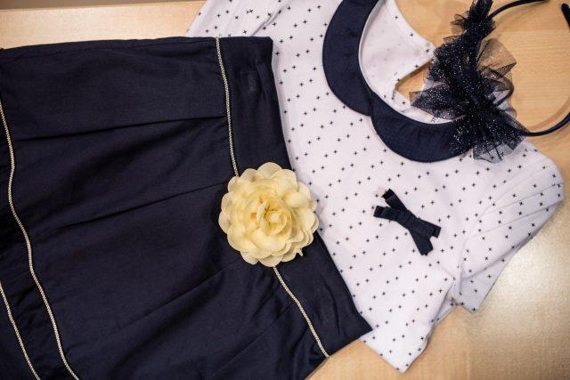 strój galowy dla dziewczynki