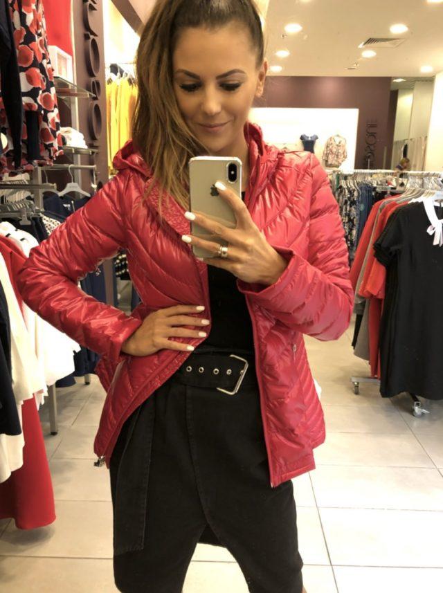 kurtka jesienna damska czerwona