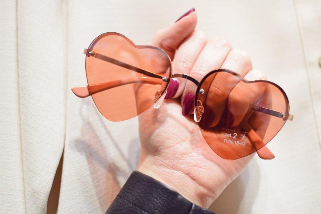 okulary z serduszkami