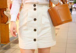 szorty i spódnice biała spódniczka jeansowa