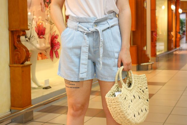 jeansowe luźne szorty damskie
