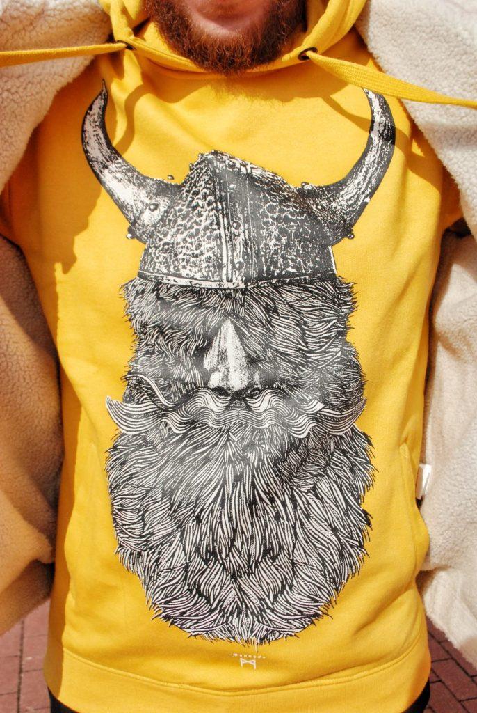 moda męska jesień 2019 buza z wikingiem