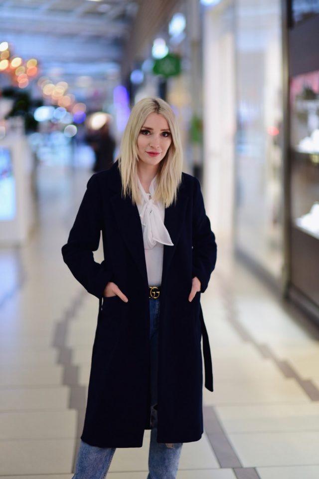 jesienny płaszcz blogerka