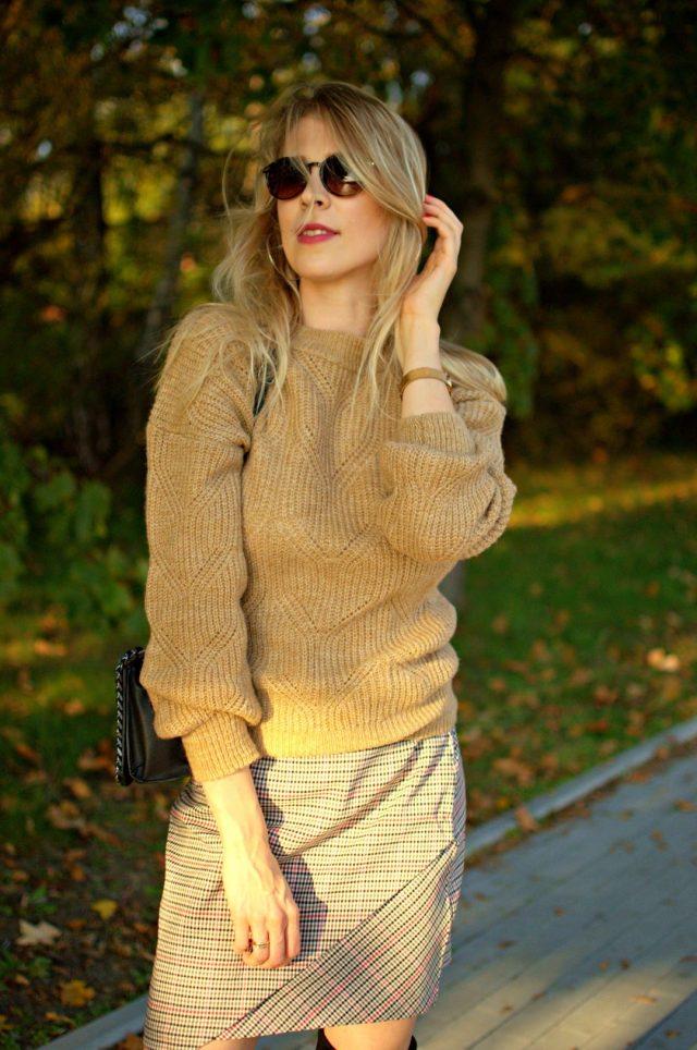 ażurowy sweter na jesień