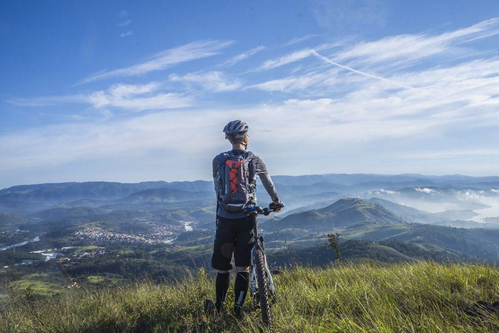 rower w górach