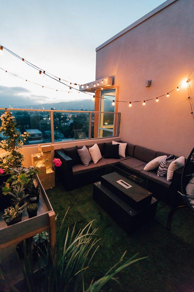 balkon zmierzch